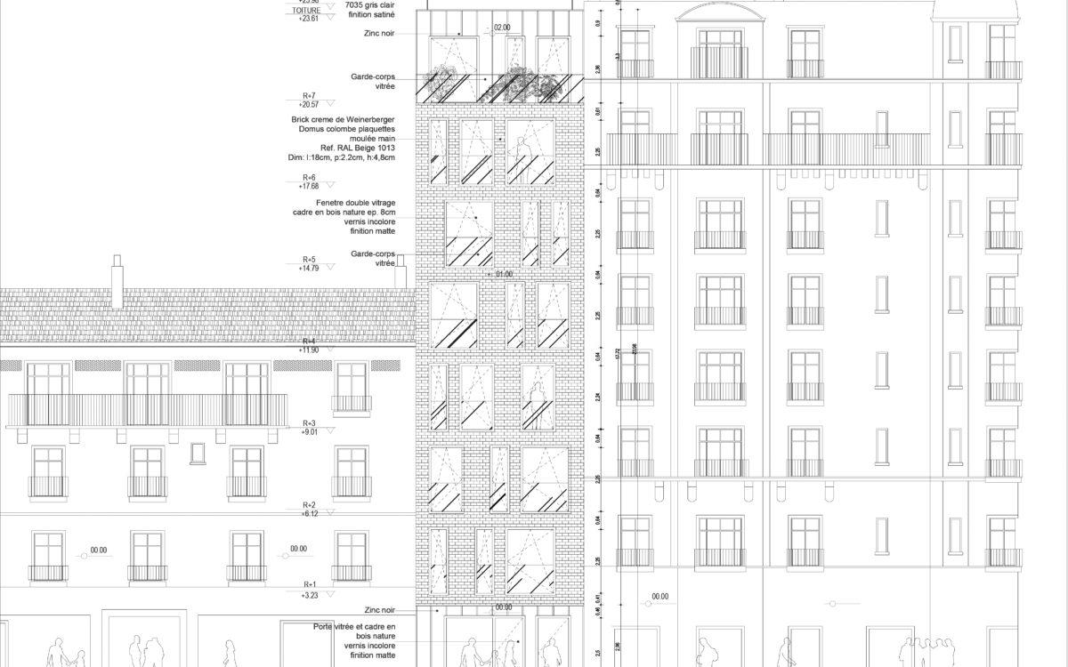 Porte Bois Gris Clair pixels - atelier janković de thy